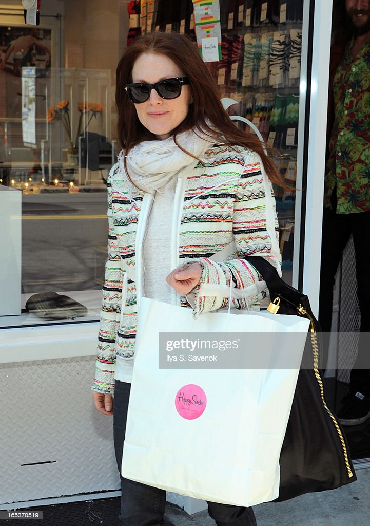 Actress Julianne Moore sighted on April 3, 2013 in New York City.