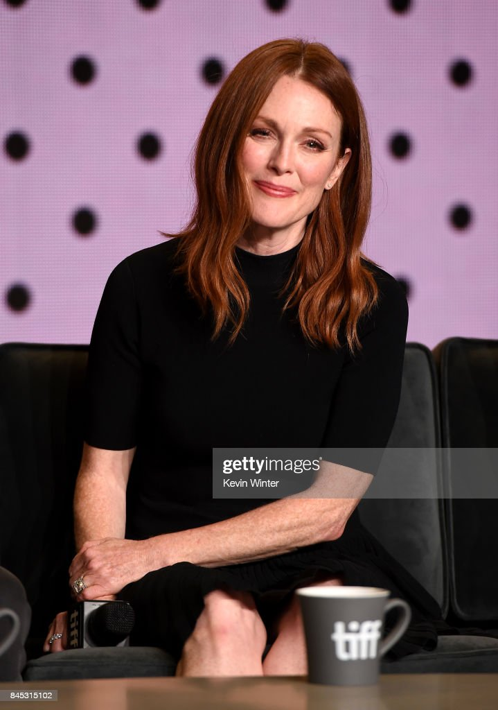 Actress Julianne Moore speaks onstage at the 'Suburbicon' press conference during the 2017 Toronto International Film Festival at TIFF Bell Lightbox on September 10, 2017 in Toronto, Canada.