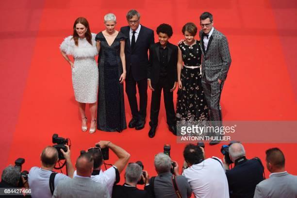 US actress Julianne Moore US actress Michelle Williams US director Todd Haynes US actor Jaden Michael US actress Millicent Simmonds and US...