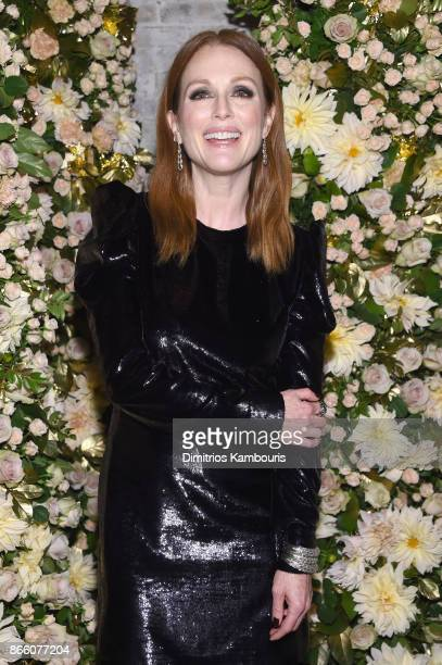 Actress Julianne Moore wearing John Hardy jewelry attends John Hardy And Vanity Fair Celebrate Legends at Le Coucou on October 24 2017 in New York...