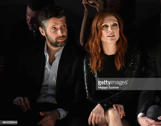 Actress Julianne Moore wearing TOM FORD and director Bart Freundlich attend the TOM FORD Autumn/Winter 2015 Womenswear Collection Presentation at...