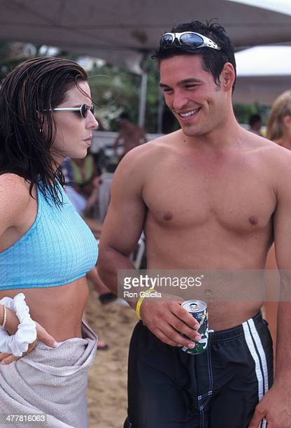 Actress Julianne Morris and actor Eddie Cibrian attend the Westin Rio Mar Beach Resort Celebrity Sports Invitational SeaDoo Finals on May 24 1997 at...