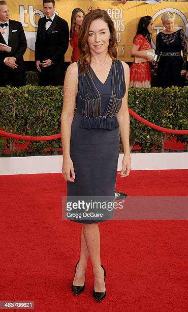Actress Julianne Nicholson arrives at the 20th Annual Screen Actors Guild Awards at The Shrine Auditorium on January 18 2014 in Los Angeles California