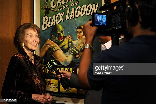 Actress Julie Adams attends he Academy Of Motion Picture Arts And Sciences' Screenings Of Creature From The Black Lagoon And The Invisible Man at...