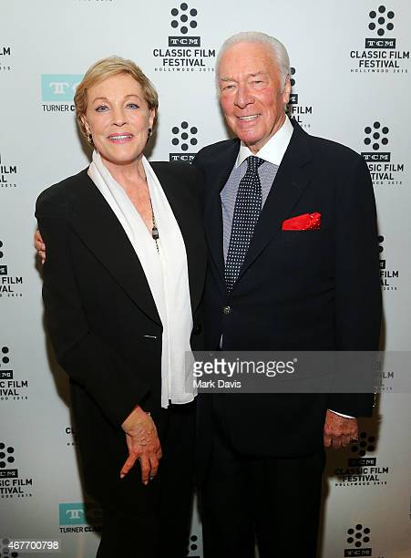 Actress Julie Andrews and actor Christopher Plummer attend the Opening Night Gala and screening of The Sound of Music during the 2015 TCM Classic...