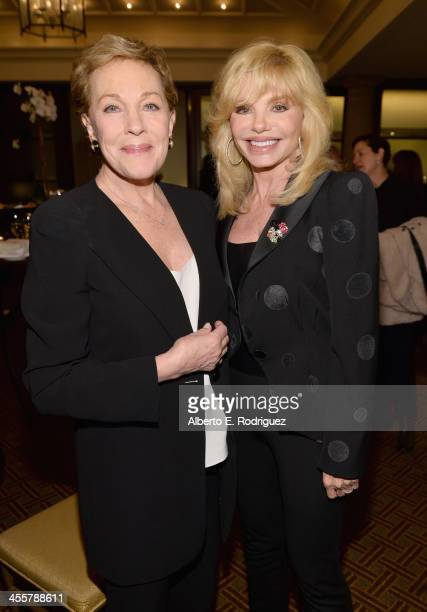 Actress Julie Andrews and actress Loni Anderson attend a special screening event hosted by Julie Andrews of Disney's Saving Mr Banks the untold...