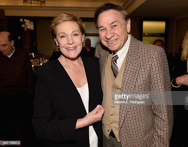 Actress Julie Andrews and composer Richard Sherman attend a special screening event hosted by Julie Andrews of Disney's Saving Mr Banks the untold...