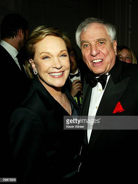 Actress Julie Andrews and director Garry Marshall pose at The American Cinema Editors' 54th Annual ACE Eddie Awards at the Beverly Hilton Hotel on...