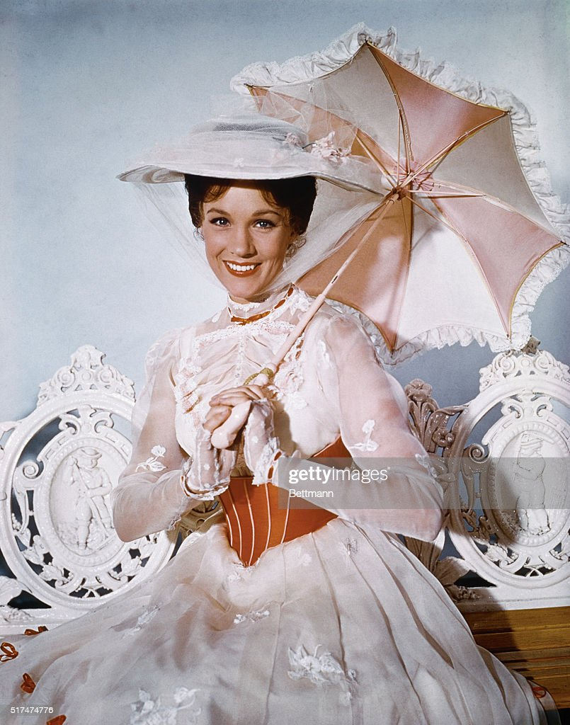 Actress Julie Andrews appears in the title role of the musical-fantasy, Mary Poppins, the whimsical story of an English nanny and her marvelous, magical adventures.