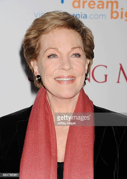 Actress Julie Andrews arrives at the 'Saving Mr Banks' Los Angeles Premiere at Walt Disney Studios on December 9 2013 in Burbank California