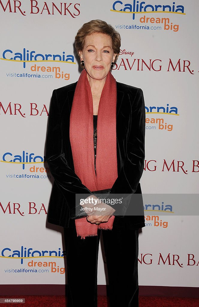 Actress Julie Andrews arrives at the 'Saving Mr. Banks' - Los Angeles Premiere at Walt Disney Studios on December 9, 2013 in Burbank, California.