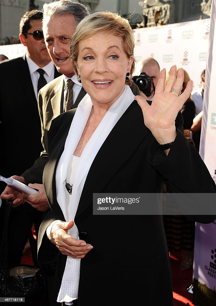Actress Julie Andrews attends the 2015 TCM Classic Film Festival opening night gala and the 50th anniversary of 'The Sound Of Music' at TCL Chinese Theatre IMAX on March 26, 2015 in Hollywood, California.