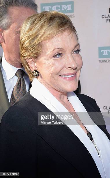 Actress Julie Andrews attends the 50th Anniversary screening of 'The Sound of Music' at the 2015 TCM Classic Film Festival Opening Night Gala at TCL...