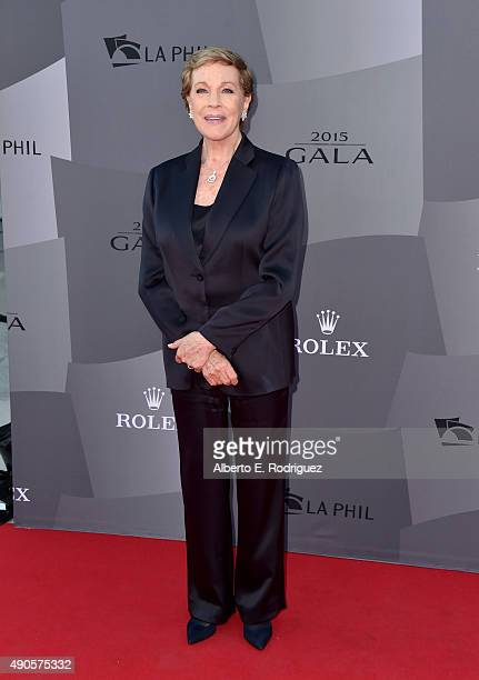 Actress Julie Andrews attends The Los Angeles Philharmonic 2015/2016 Season Opening Night Gala at the Walt Disney Concert Hall on September 29 2015...