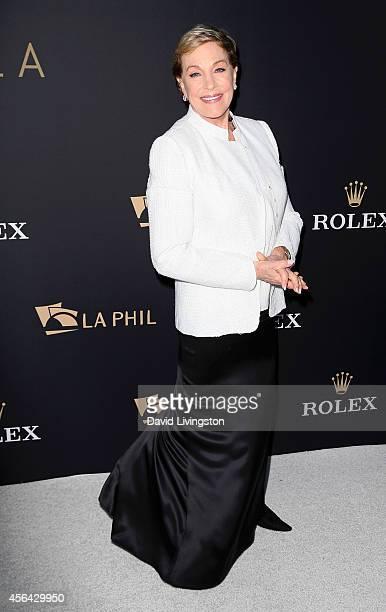 Actress Julie Andrews attends the LA Philharmonic's Walt Disney Concert Hall Opening Night Concert and Gala at Walt Disney Concert Hall on September...
