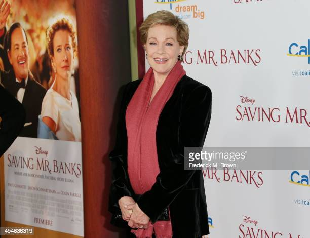 Actress Julie Andrews attends the Premiere of Disney's Saving Mr Banks at Walt Disney Studios on December 9 2013 in Burbank California