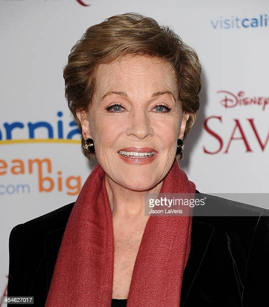 "Actress Julie Andrews attends the premiere of ""Saving Mr. Banks"" at Walt Disney Studios on December 9, 2013 in Burbank, California."