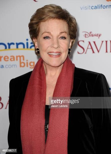 Actress Julie Andrews attends the premiere of 'Saving Mr Banks' at Walt Disney Studios on December 9 2013 in Burbank California