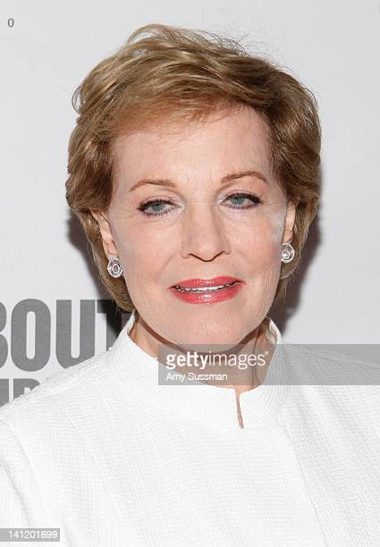 Actress Julie Andrews attends The Roundabout Theatre 2012 Spring Gala From Screen to Stage dinner and auction at the Hammerstein Ballroom on March 12...