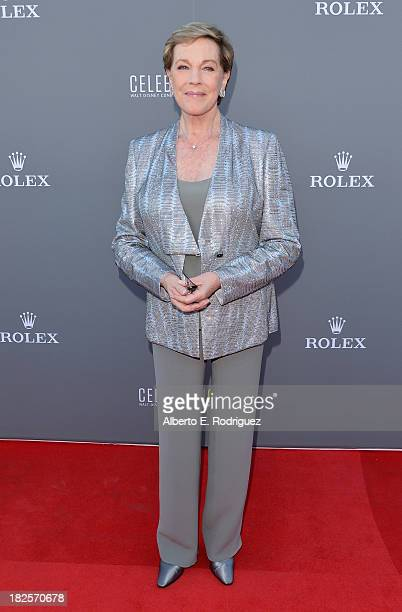 Actress Julie Andrews attends the Walt Disney Concet Hall's 10th Anniversary Gala at the Walt Disney Concert Hall on September 30 2013 in Los Angeles...