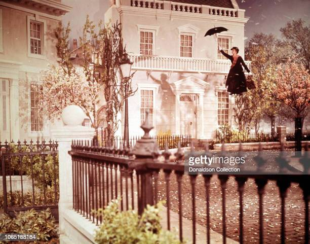 Actress Julie Andrews in a scene from the movieMary Poppins