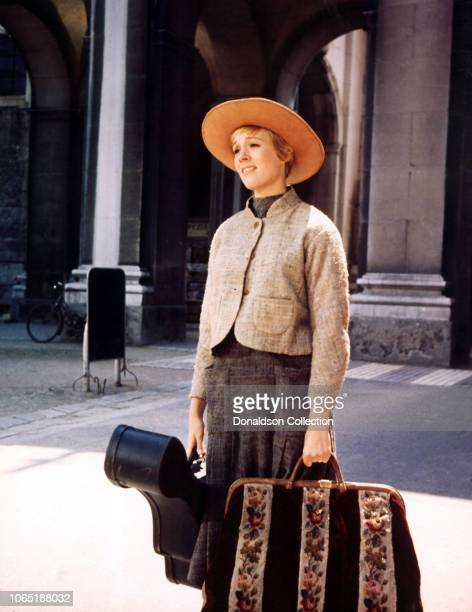 Actress Julie Andrews in a scene from the movieThe Sound of Music