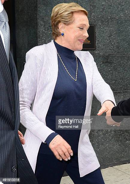 Actress Julie Andrews is seen outside 'Whatch What Happens Live' on October 8 2015 in New York City