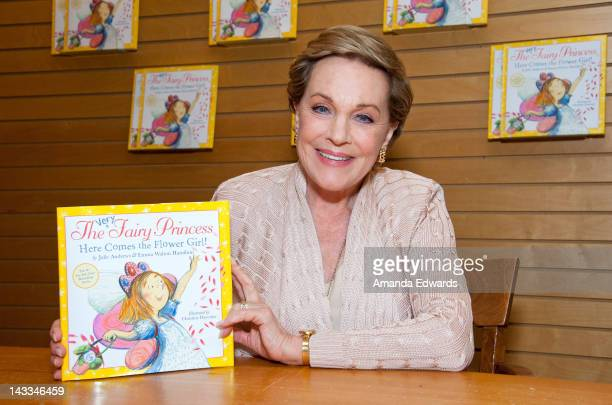 Actress Julie Andrews poses before signing copies of her book 'The Very Fairy Princess Here Comes The Flower Girl' at Barnes Noble 3rd Street...