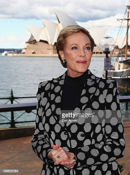 Actress Julie Andrews poses during a press conference ahead of her national tour of An Evening with Julie Andrews on May 16 2013 in Sydney Australia