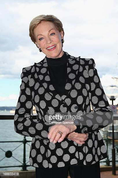 Actress Julie Andrews poses during a press conference ahead of her national tour of 'An Evening with Julie Andrews' on May 16 2013 in Sydney Australia