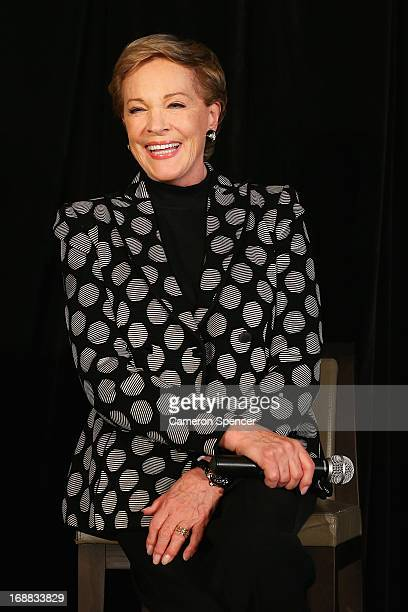 Actress Julie Andrews speaks to media at a press conference ahead of her national tour of 'An Evening with Julie Andrews' on May 16 2013 in Sydney...