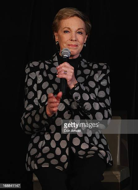 Actress Julie Andrews speaks to media at a press conference ahead of her national tour of An Evening with Julie Andrews on May 16 2013 in Sydney...