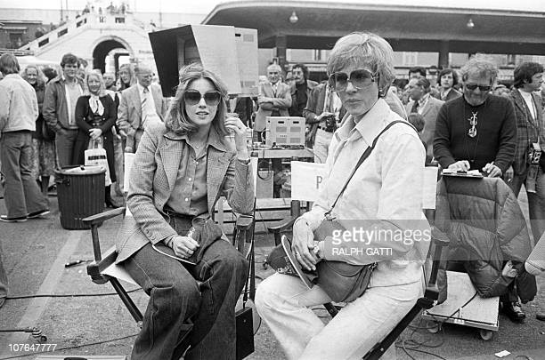 US actress Julie Andrews wife of US director Blake Edwards and Lynne Frederick wife of Peter Sellers are pictured on the filming of the The Revenge...