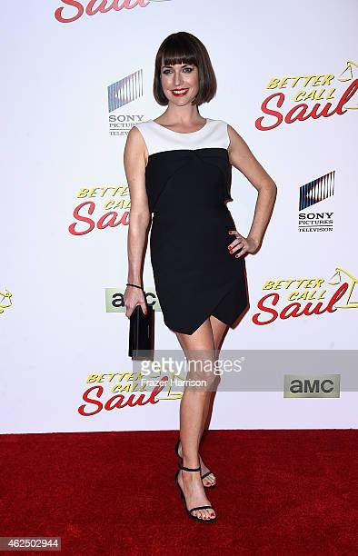 Actress Julie Ann Emery arrives at the Series Premiere Of AMC's Better Call Saul at Regal Cinemas LA Live on January 29 2015 in Los Angeles California