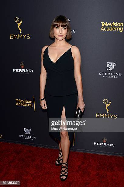 Actress Julie Ann Emery arrives at the Television Academy's Performers Peer Group Celebration at Montage Beverly Hills on August 22 2016 in Beverly...
