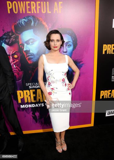 Actress Julie Ann Emery attends AMC's Preacher Season 2 Premiere at the Theater at the Ace Hotel on June 20 2017 in Los Angeles California