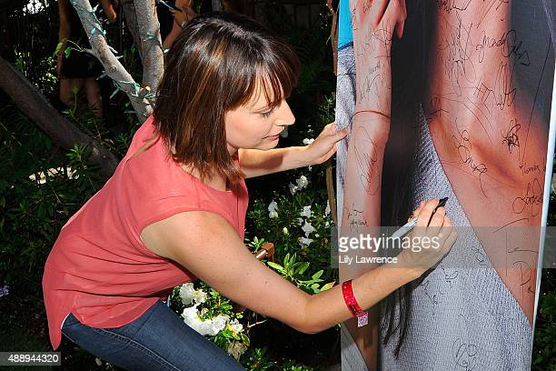 Actress Julie Ann Emery attends Kari Feinstein's Style Lounge at Sunset Marquis Hotel Villas on September 18 2015 in West Hollywood California