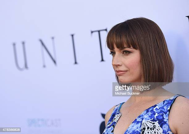 Actress Julie Ann Emery attends the world premiere of 'UNITY' at the DGA Theater on June 24 2015 in Los Angeles California