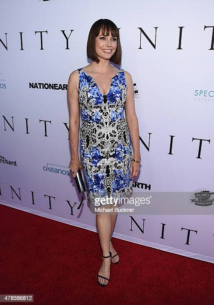 Actress Julie Ann Emery attends the world premiere of UNITY at the DGA Theater on June 24 2015 in Los Angeles California