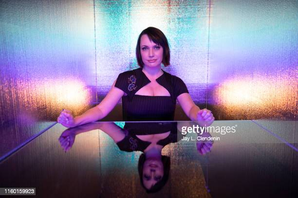 Actress Julie Ann Emery of 'Preacher' is photographed for Los Angeles Times at ComicCon International on July 19 2019 in San Diego California...