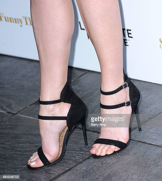 Actress Julie Ann Emery shoe detail attends the Los Angeles Premiere of Lionsgate's 'She's Funny That Way' at Harmony Gold on August 19 2015 in Los...