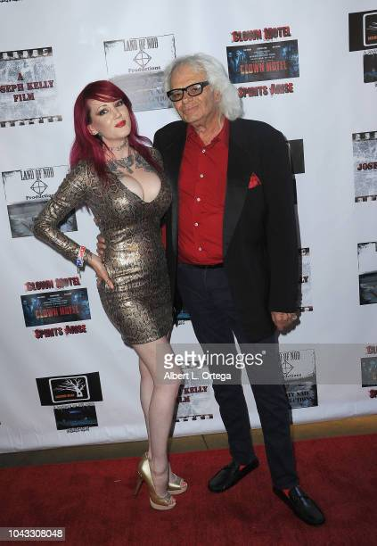 Actress Julie Anne Prescott and Michael St Michaels arrive for the Clown Motel Spirit's Arise Premiere held at Downtown Independent Theater on...