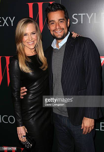 Actress Julie Benz and husband Rich Orosco attend W Magazine and Guess celebrating 30 years of fashion and film and the next generation of style...