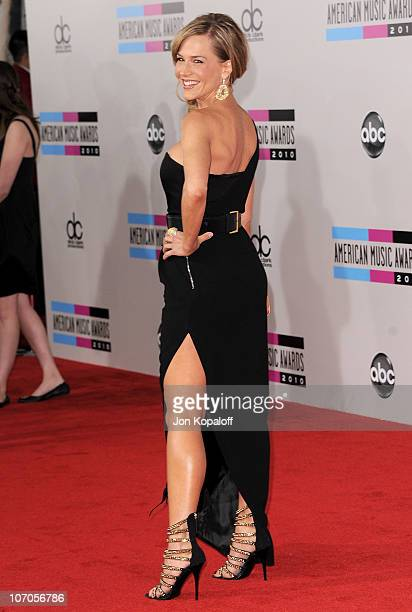 Actress Julie Benz arrives at the 2010 American Music Awards held at Nokia Theatre LA Live on November 21 2010 in Los Angeles California
