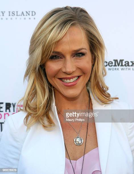Actress Julie Benz arrives at the First Annual Party With A Purpose Benefit at Smashbox West Hollywood on May 3 2010 in West Hollywood California
