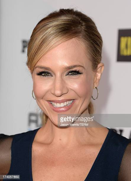 Actress Julie Benz arrives at the Playboy and Universal Pictures' 'KickAss 2' event at ComicCon sponsored by AXE Black Chill on July 19 2013 in San...
