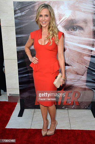 Actress Julie Benz arrives at the Showtime Celebrates 8 Seasons Of 'Dexter' at Milk Studios on June 15 2013 in Hollywood California