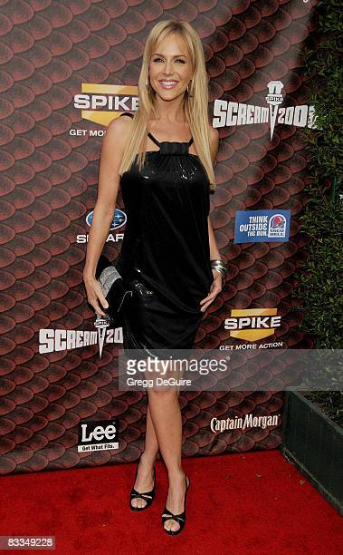 Actress Julie Benz arrives at the Spike TV's Scream 2008 Awards at The Greek Theater on October 18 2008 in Los Angeles California