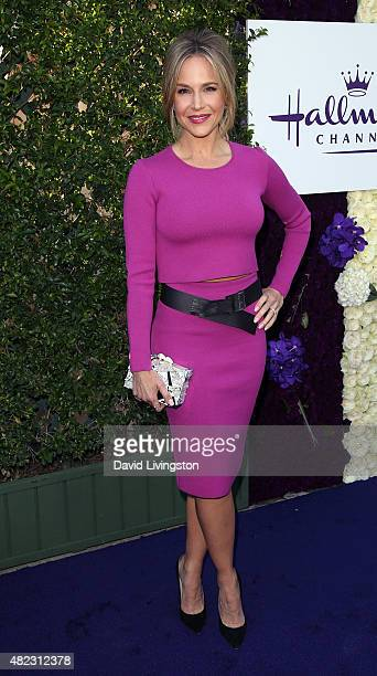 Actress Julie Benz attends Hallmark Channel and Hallmark Movies and Mysteries at the 2015 Summer TCA Tour at a private residence on July 29 2015 in...