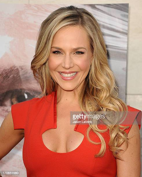 Actress Julie Benz attends the Dexter series finale season premiere party at Milk Studios on June 15 2013 in Hollywood California